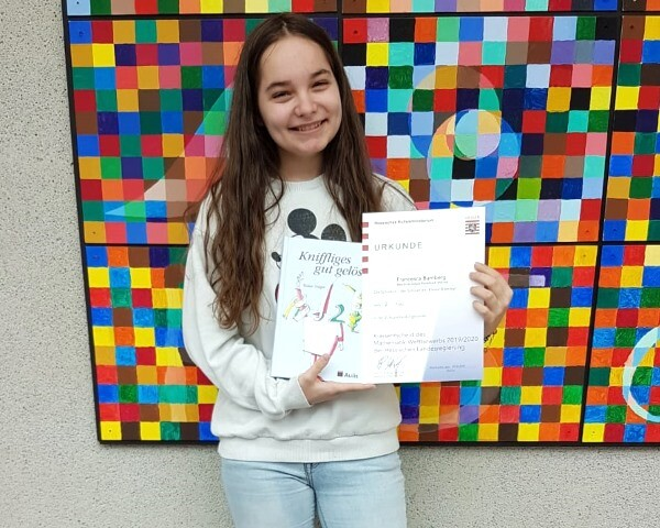 Francesca Bamberg nimmt an Endrunde des Mathematikwettbewerbs teil