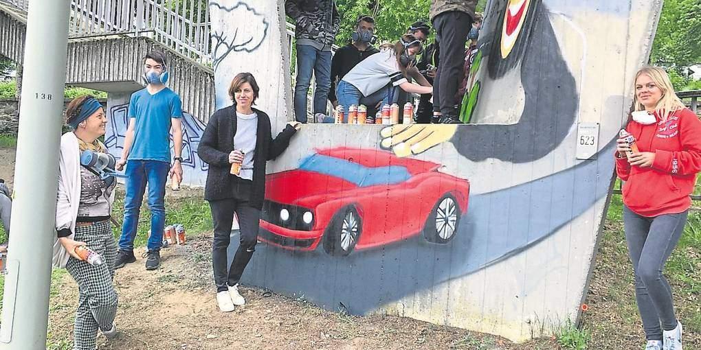 Weilrod wird bunt – Graffiti-Projekt im Kunstunterricht