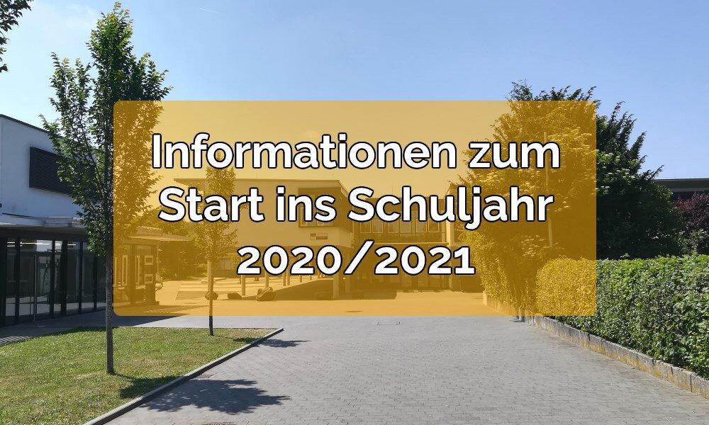 Elternbrief zum Schuljahr 2020/21