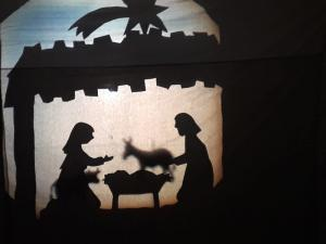 Schattentheater zur Weihnachtsgeschichte