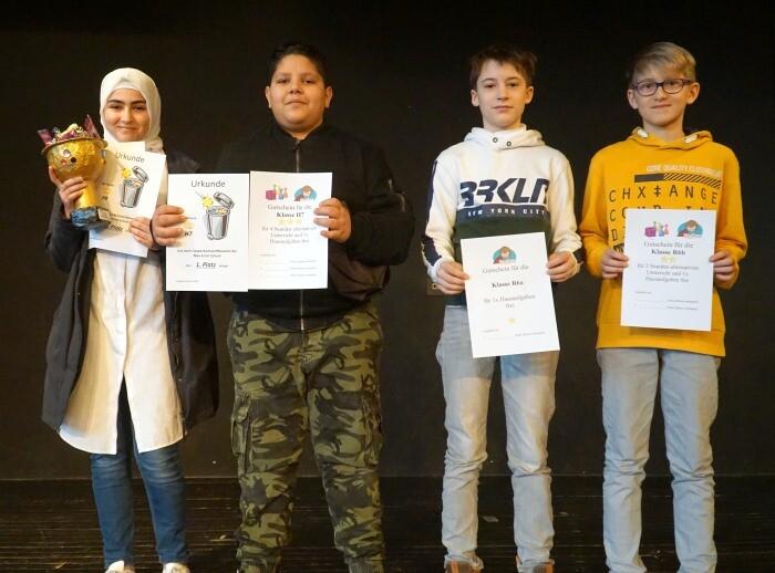 Sieger des Sauberkeitswettbewerbs im 1. Halbjahr 2019/2020 ausgezeichnet