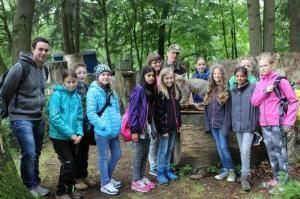 Schulwaldtag:  Wirtschaftsbetrieb und Biotop