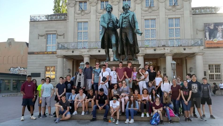 Neuntklässler auf den Spuren von Goethe und Schiller